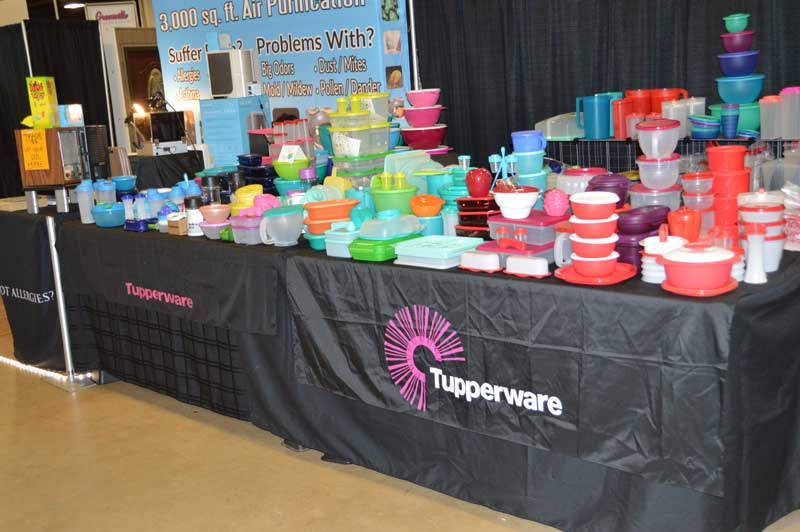 Tupperware Sales Representatives Had A Very Colorful Display Of Their Home  Products At The Home U0026 Garden Show In Greenville.