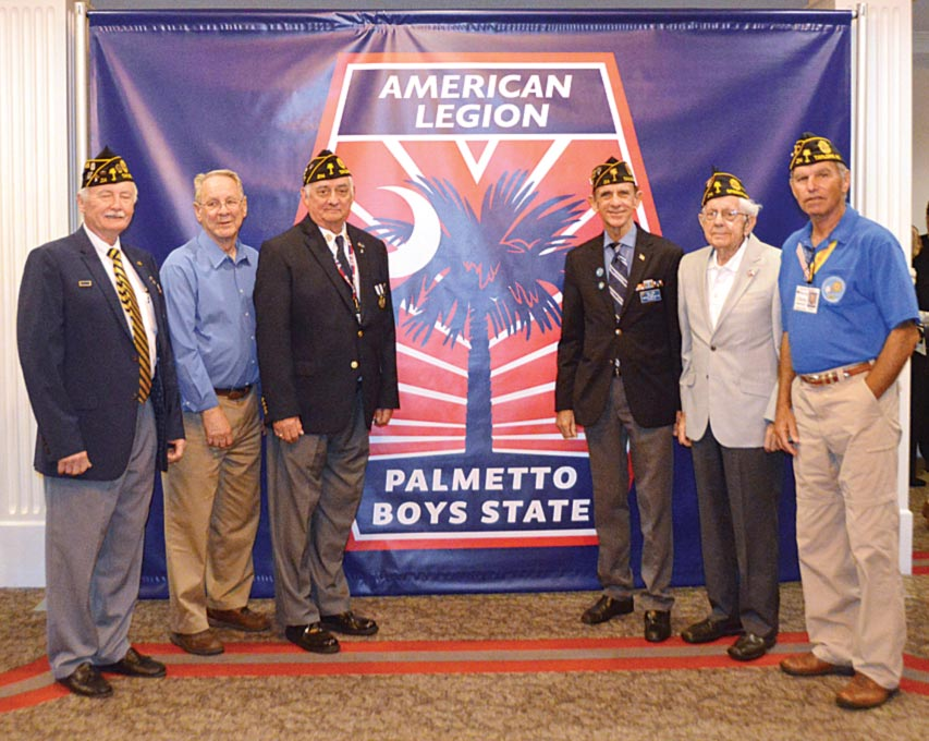 Members of Major Rudolf Anderson, Jr. American Legion Post 214 attended the The American Legion sponsored Palmetto Boy's State held at Anderson University. American Legion Posts send boys from local schools to Boy's State to learn about US History and how it works by electing their own state government officials, such as a governor, attorney general, legislators, etc.