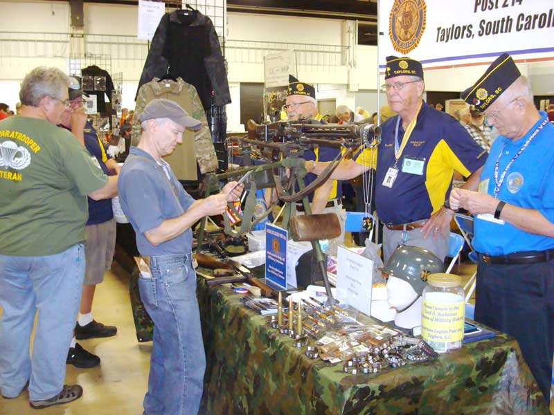 Members of the American Legion Major Rudolf Anderson, Jr. Post 214 at TD Convention Center Gun Show inform the public about the American Legion and The Cecil D. Buchanan Museum of Military History. Post 214 general meeting is held at Lee Road Methodist Church, meal served at 6:00 pm. The History Museum is open Saturday 10 a.m. to 5 p.m.. Sunday 1 p.m. to 5 p.m.