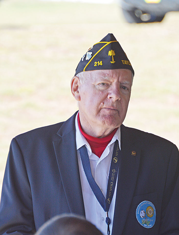 Major Rudolf Anderson, Jr. American Legion Post 214 Chaplain Jack Dorn conducted Services at M J Dolly Cooper Veterans Cemetery for Steve Zietz, Air Force, Vietnam Veteran, Charter Commander of Post 214.