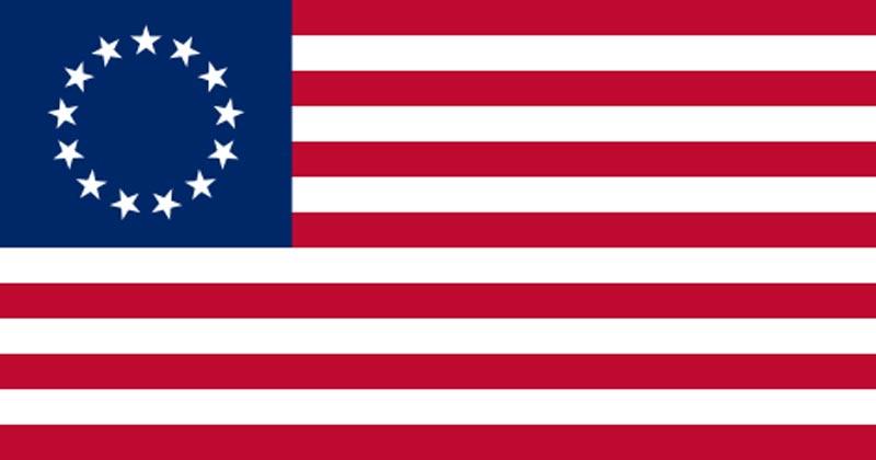Betsy Ross flag 1776