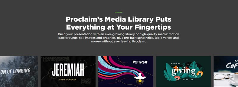 Proclaim Media Library