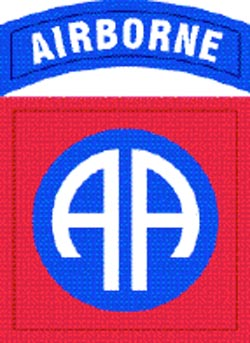 82nd Airborne Division Patch, Fort Bragg, NC.