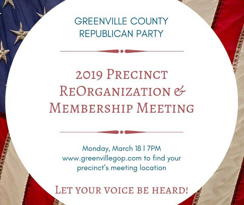 Greenville County GOP Precincet Announcement 2019