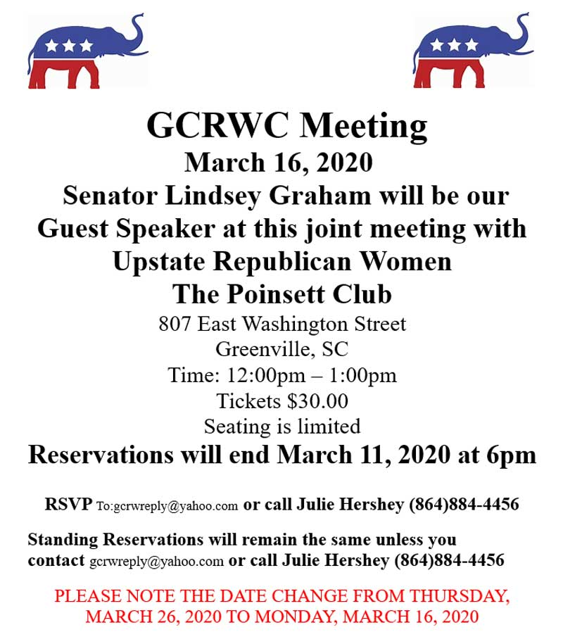 GCRWC March Meeting 2020