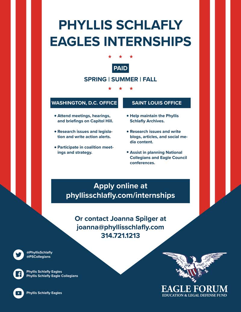 Phyllis Schlafly Eagles Internships