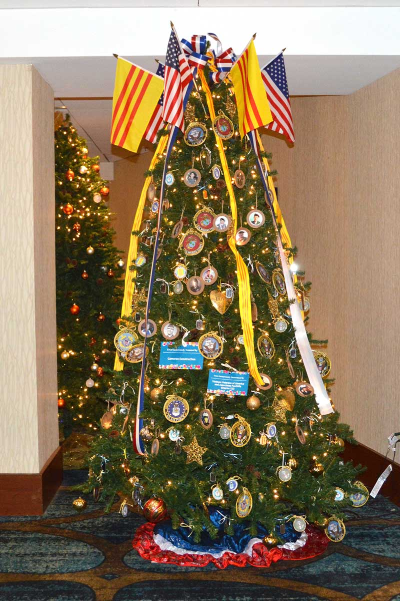 Vietnam Veterans of America Chapter 523 Christmas Tree was graciously donated by Camren Construction, graciously decorated by VVA and Associates Foothills Chapter 523.