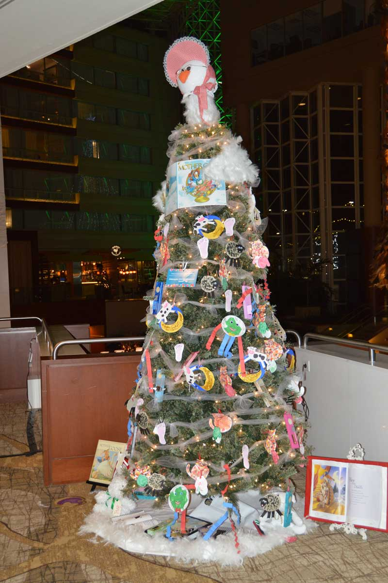 Christmas Tree graciously decorated by Aldersgate Child Development Center.