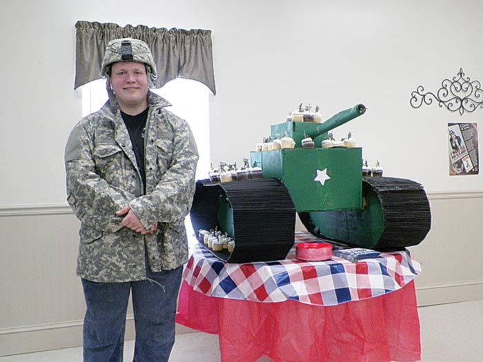 Anthony Dorsey, a member of Freedom Baptist Church in Berea, graduated last week from Tabernacle Christian School. He celebrated his achievement on Saturday with a military-themed party.