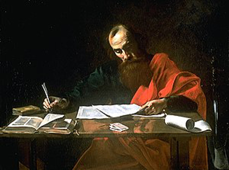 The Apostle Paul (circa 5 AD  to 67 AD) Christian martyr and prolific contributor to New Testament. Painting attributed to Valentin de Bologne, 17th century