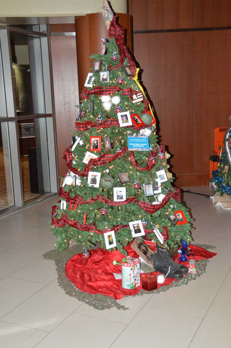 Christmas Tree graciously decorated by Blue Star Mothers of America - Greenville Upstate.