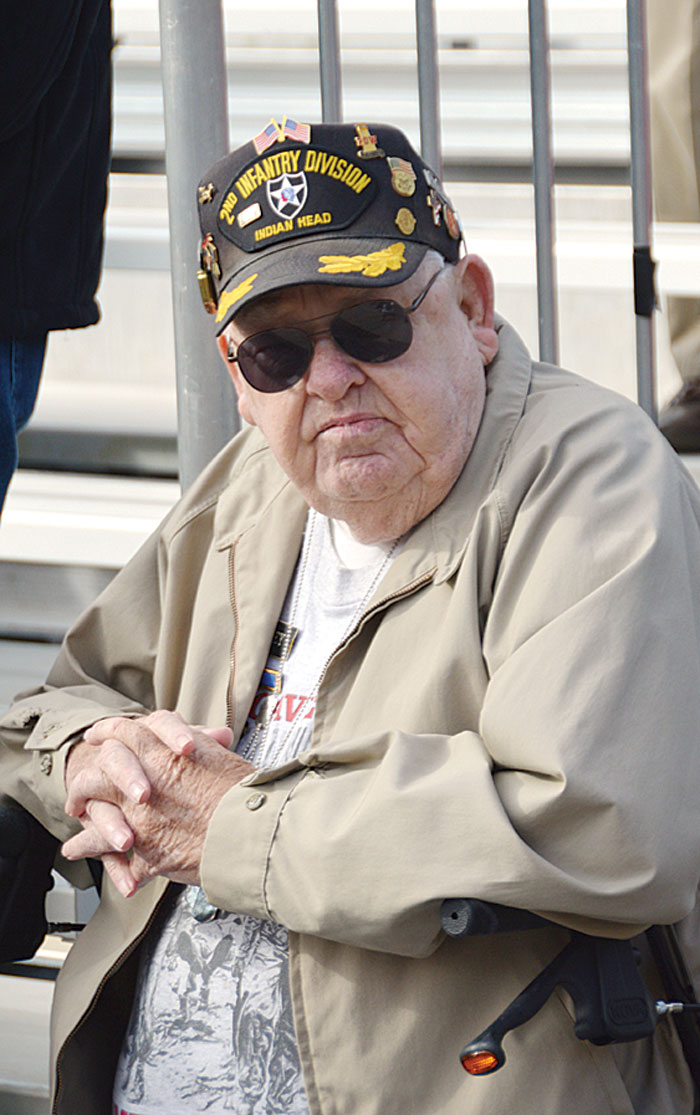 Korean War Veteran and former POW Frank Tooley, a member of American Legion Major Rudolf Anderson, Jr. Post 214, attended the Veteran Ceremonies at Greenville County Square on Veterans Day. See more photos on page 2.