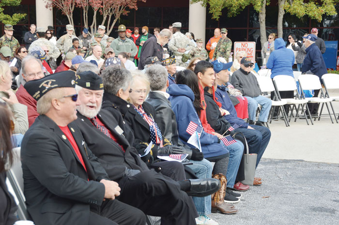 "Large crowd attended the ""2017 Thanking All Our Veterans"" Celebration at Greenville County Square on Veterans Day."