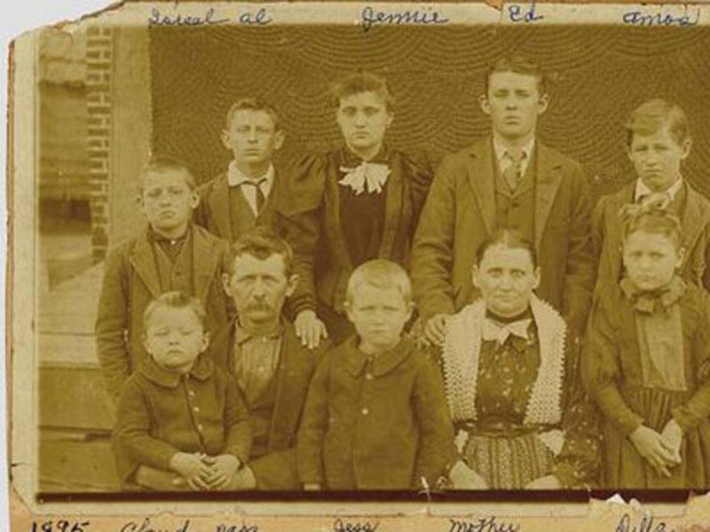 Family of Jack and Cindy Ross Bradsher, 1895, Marmaduke, Arkansas.