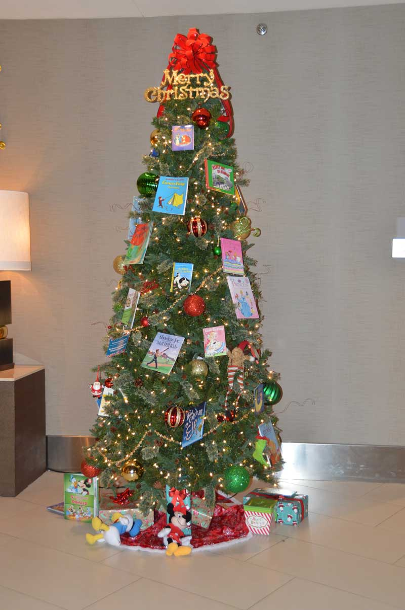 Christmas Tree graciously decorated by Gateway.