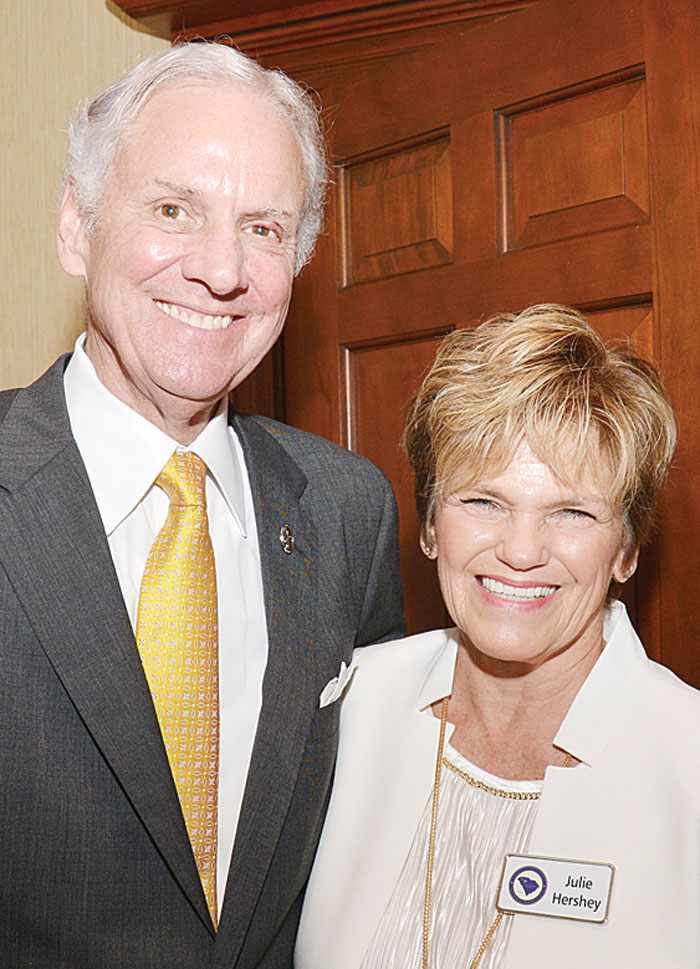 SC Gov. Henry McMaster with  Julie Hershey. You can watch videos of the GCRWC meeting online at GCRWC.com.