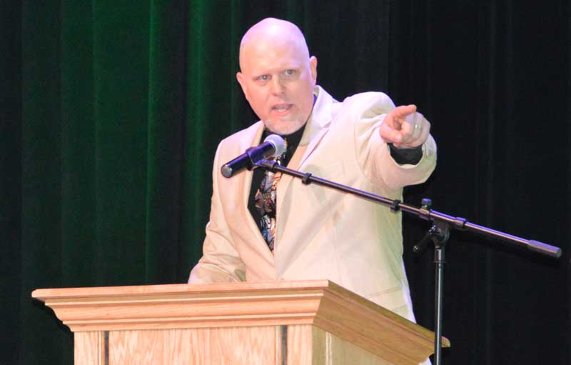 A former radio announcer Justin Rey Williams was a special guest speaker who also overcame a speaking disability which was later to be known as dyslexia.