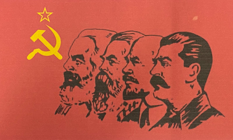 Kark Marx, Fredrick Engles, Vladimir Lenin and Joseph Stalin - the Patron Saints of the Klan of new Bolsheviks of the U.S.A. (formerly the Democrat Party).