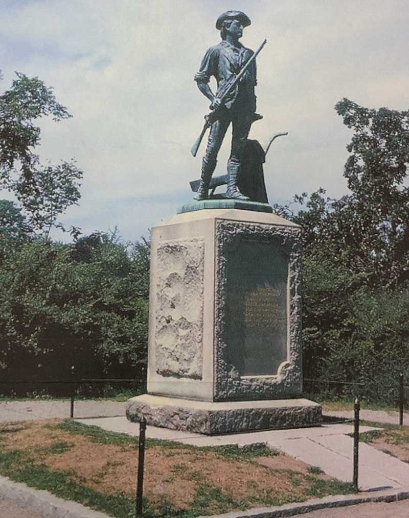 Minuteman Memorial by Daniel French erected 1875 at Old North Bridge, Concord, Mass.