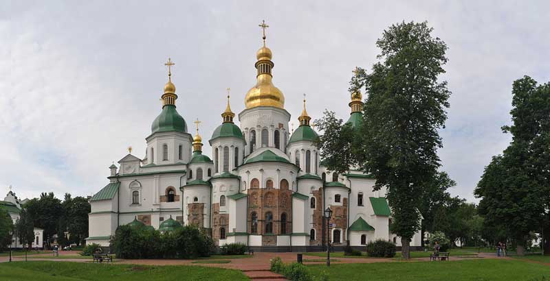 Cathedral of Holy Wisdom, Kiev, Ukraine. Original completion circa 1031