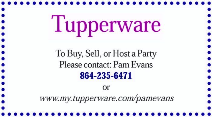 Tupperware - Pam Evans