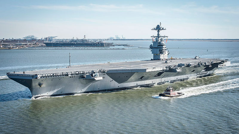USS Gerald R. Ford CVN-78, Newest  active U.S nuclear supercarrier. May God bless America!